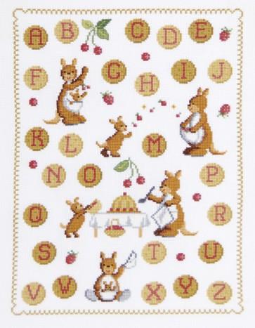 DMC Cross Stitch Kit - Childrens - Kangaroos ABC