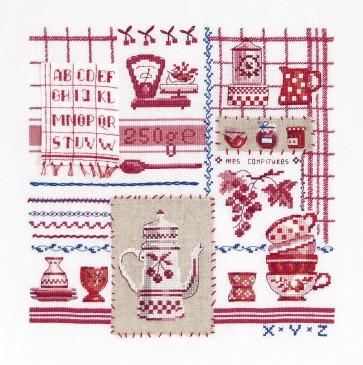 DMC Cross Stitch Kit - Sampler - My Red Kitchen