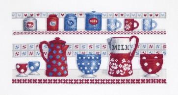 DMC Cross Stitch Kit - Sampler - Kitchen Shelves