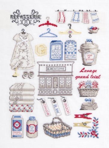 DMC Cross Stitch Kit - Sampler - The Laundry