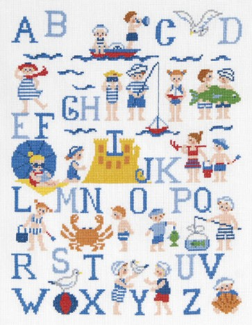 DMC Cross Stitch Kit - Childrens - The Young Sailors Sampler