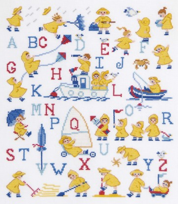 DMC Cross Stitch Kit - Childrens - The Yellow Coats Sampler