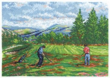 DMC Cross Stitch Kit - Sports - Off The Green. Glen Eagles, Scotland