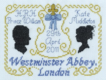 DMC Cross Stitch Kit - The Royal Wedding - Royal Wedding Silhouettes