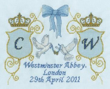 DMC Cross Stitch Kit - The Royal Wedding - Royal Wedding Sampler