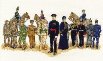 DMC Cross Stitch Kit - Military - Army Costume