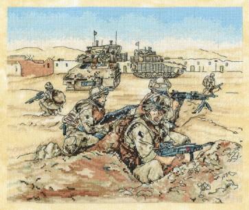 DMC Cross Stitch Kit - Military - Panthers Claw