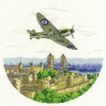 DMC Cross Stitch Kit - Military - Spitfire over London