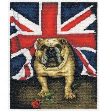 DMC Cross Stitch Kit - Pollyanna Pickering - British Bulldog