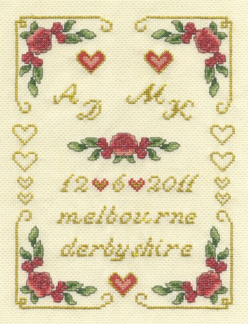 DMC Cross Stitch Kit - Wedding Samplers - Classic Roses Sampler