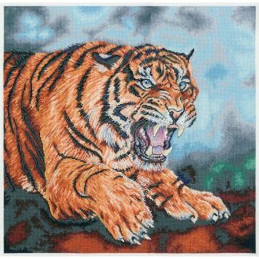 DMC Cross Stitch Kit - Kat Davies Big Cats - Wild And Free