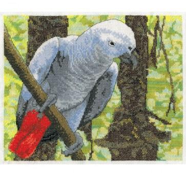 DMC Cross Stitch Kit - Pollyanna Pickering - African Grey Parrot