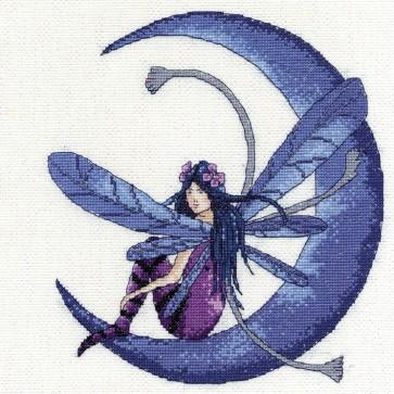 DMC Cross Stitch Kit - Fantasy - Faery Blue Moon