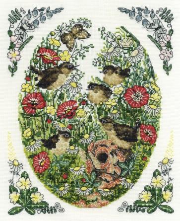 DMC Cross Stitch Kit - Countryside - Wrens