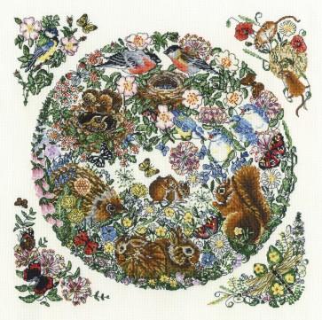 DMC Cross Stitch Kit - Countryside - English Summer Masterpiece