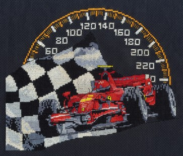 DMC Cross Stitch Kit - Sports - Racing Car