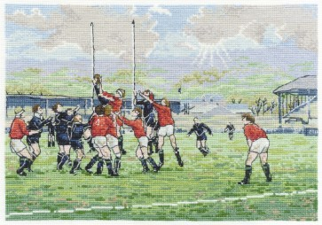 DMC Cross Stitch Kit - Sports - The Line Out