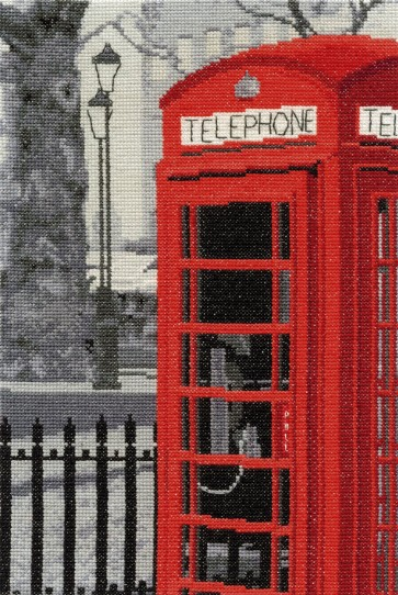 DMC Cross Stitch Kit - London Scenes - London Telephone