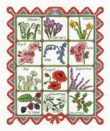 Seasonal Flowers Of The Month - Flowers - BK1176