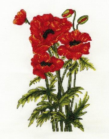 DMC Cross Stitch Kit - Flowers - Poppies