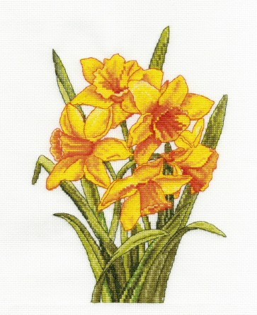 DMC Cross Stitch Kit - Flowers - Daffodils