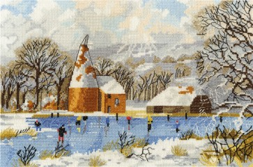 DMC Cross Stitch Kit - Nostalgia - Skaters at Bough Beech