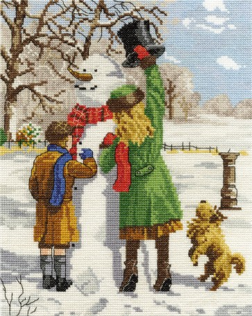 DMC Cross Stitch Kit - Nostalgia - The Snowmans Hat