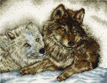 DMC Cross Stitch Kit - Endangered Species - A Tale Of Two Wolves