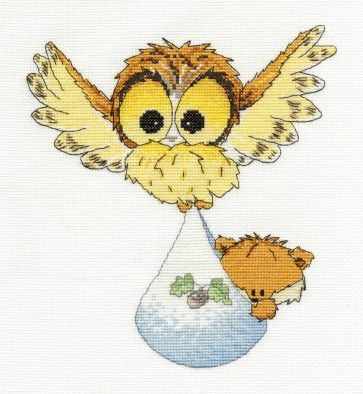 DMC Cross Stitch Kit - Woodland Folk - New Arrival Sampler