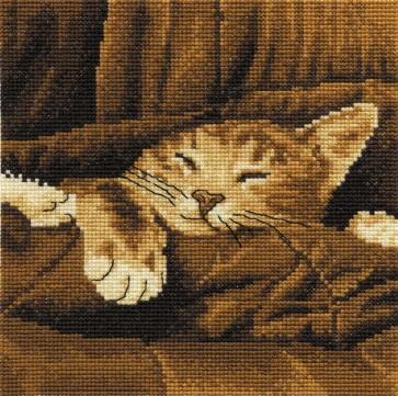 DMC Cross Stitch Kit - Cats - Sleepy