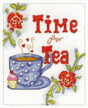 DMC Cross Stitch Kit - Modern - Time For Tea