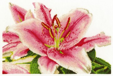 DMC Cross Stitch Kit - Flowers - Stargazer Lily