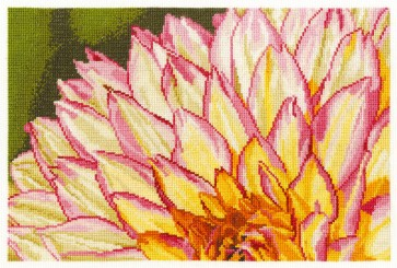 DMC Cross Stitch Kit - Flowers - Variegated Dahlia