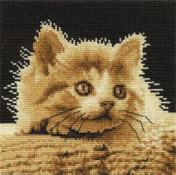 DMC Cross Stitch Kit - Cats - Big Eyes Kitty
