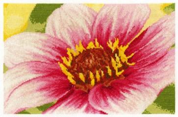 DMC Cross Stitch Kit - Flowers - Pink Dahlia
