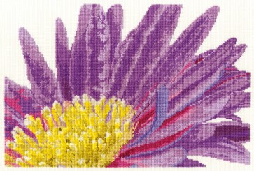 DMC Cross Stitch Kit - Flowers - Purple Harmony