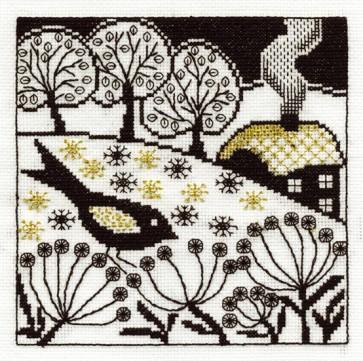Bird Song - Blackwork - BK1352