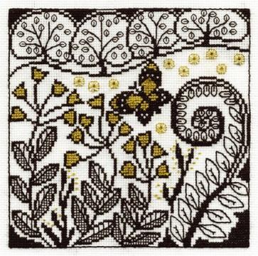 DMC Cross Stitch Kit - Blackwork - Butterfly Garden
