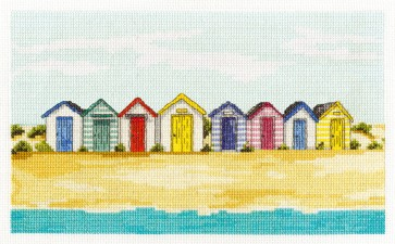 Stripey Beach Huts - Seaside - BK1357