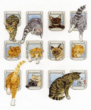 DMC Cross Stitch Kit - Cats - Heads Or Tails