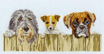 DMC Cross Stitch Kit - Dogs - Nosy Neighbours