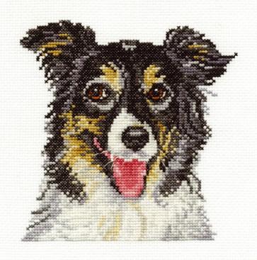 DMC Cross Stitch Kit - Dogs - Border Collie