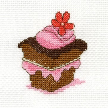 DMC Cross Stitch Kit - Sweet Temptations - Chocolate Cake