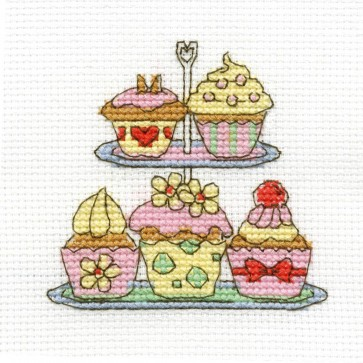 DMC Cross Stitch Kit - Sweet Temptations - Cake Stand