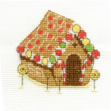 DMC Cross Stitch Kit - Sweet Temptations - Gingerbread House