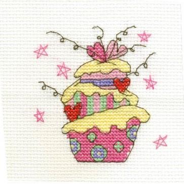 DMC Cross Stitch Kit - Sweet Temptations - Celebration Cake