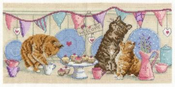 DMC Cross Stitch Kit - Cats - Tea Time