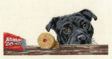 DMC Cross Stitch Kit - Dogs - Jammy Staffie