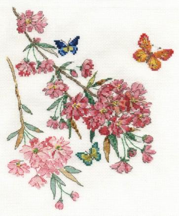 DMC Cross Stitch Kit - Flowers - Butterfly Blossom