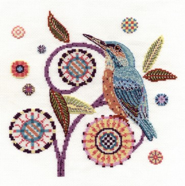 DMC Cross Stitch Kit - Bird - River Visitor